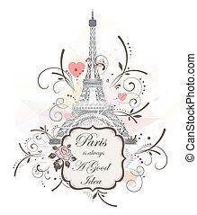 πύργος του αΐφελ , ρομαντικός , φόντο