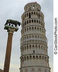 πύργος , pisa , 7 , κλίση