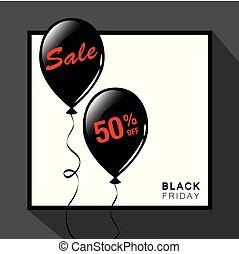 πώληση , παρασκευή , διαφήμιση , μπαλόνι , μαύρο