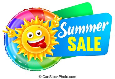 πώληση , χαρακτήρας , ιλαρός , γελοιογραφία , ανακοινώνω , καλοκαίρι , ήλιοs
