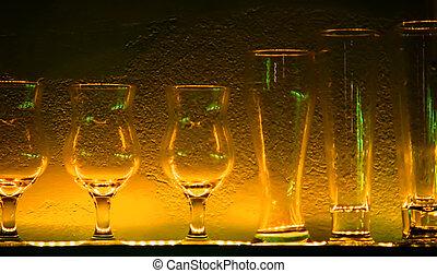 ράφι , κρασί , 1 , γυαλιά , μπαρ
