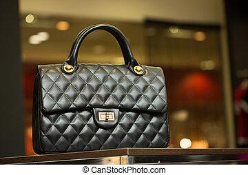 ράφι , μαύρο , κατάστημα , τσάντα