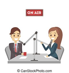 ραδιόφωνο , presenter., απομονωμένος