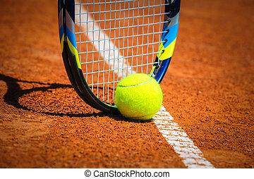 ρακέτα , μπαλάκι του τέννις