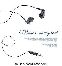 ρεαλιστικός , ακουστικά , αφίσα