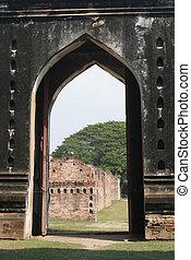 ρημάδι , σε , phra , narai, rachanivej, - , φημισμένος , παλάτι , μέσα , lopburi, σιάμ