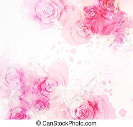 ροζ , άνθινος , φόρμα , πρόσκληση