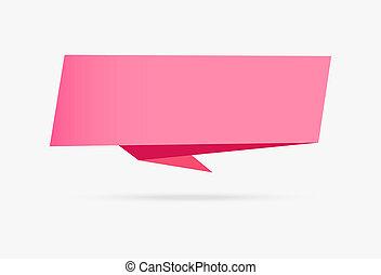ροζ , αγάπη , σημαία , origami , ταινία , χαρτί , infographic, συλλογή , απομονωμένος , αναμμένος αγαθός , φόντο
