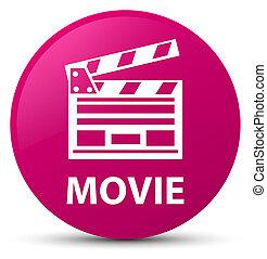 ροζ , ακροτομώ , ταινία , κουμπί , στρογγυλός , icon), (cinema