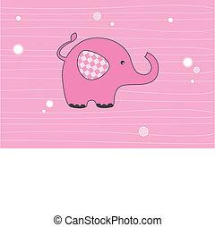 ροζ , ελέφαντας