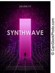ροζ , ζωηρά , σχεδιάζω , poster., vaporwave, αεροπόρος ,...