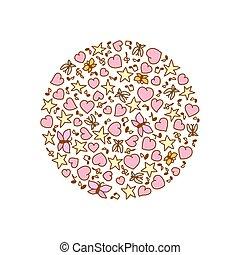 ροζ , καρδιά , βλέπω , εικόνα , γελοιογραφία , πεταλούδες , μικροβιοφορέας , αστέρας του κινηματογράφου , στρογγυλός