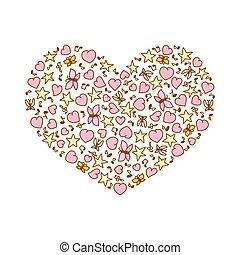 ροζ , καρδιά , καρδιά , βλέπω , εικόνα , πεταλούδες , μικροβιοφορέας , αστέρας του κινηματογράφου , γελοιογραφία