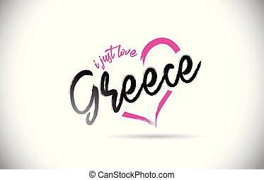 ροζ , καρδιά , λέξη , απλά , εδάφιο , αναπτύσσομαι. , ελλάδα , αγάπη , κολυμβύθρα , handwritten
