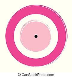 ροζ , μάτι , κακό , μικροβιοφορέας , φόντο , άσπρο