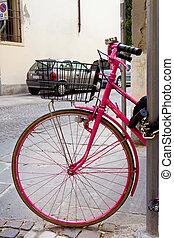 ροζ , ποδήλατο