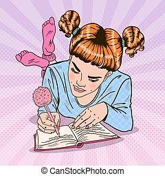 ροζ , τέχνη , κάλτσεs , γράψιμο , κρότος , μικροβιοφορέας , εικόνα , κορίτσι , diary.