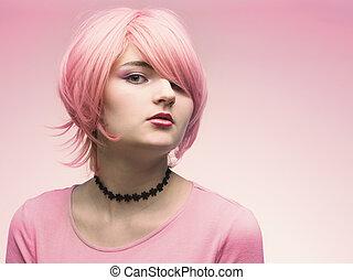 ροζ , όμορφη