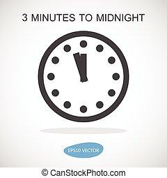 ρολόι , - , απομονωμένος , εικόνα , δευτέρα παρουσία , μικροβιοφορέας , εικόνα