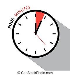 ρολόι , απομονωμένος , clock., countdown., τέσσερα , φόντο. , μικροβιοφορέας , χρονόμετρο , αγαθός αντικρύζω , πρακτικά