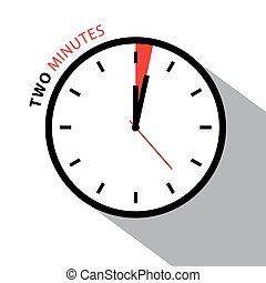 ρολόι , απομονωμένος , clock., countdown., φόντο. , μικροβιοφορέας , δυο , χρονόμετρο , αγαθός αντικρύζω , πρακτικά