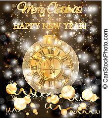 & , ρολόι , εικόνα , xριστούγεννα , μικροβιοφορέας , εύθυμος , έτος , καινούργιος , σημαία , χριστούγεννα