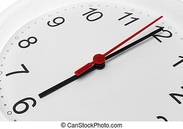 ρολόι , εκδήλωση , έξι , ζεσεεδ , τρέξιμο , φόντο , ώρα , άσπρο