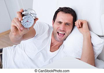 ρολόι , εξαντλημένος , τρομάζω , ζωή , άγρυπνος , άντραs