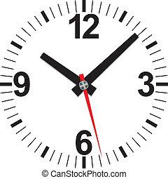 ρολόι , μικροβιοφορέας , illustrat, αναλογικό , εικόνα