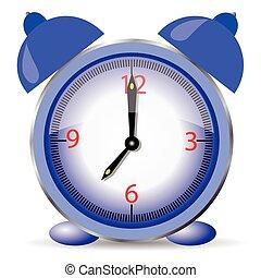 ρολόι , μπλε , τρομάζω