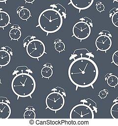 ρολόι , πρότυπο , τρομάζω , seamless, εικόνα , μικροβιοφορέας , φόντο , εικόνα