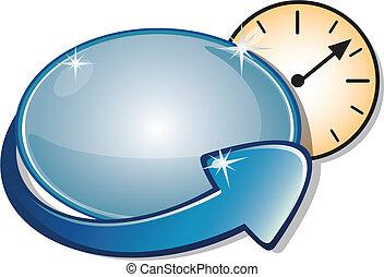 ρολόι , σήμα , βέλος , μετρών την ώραν , &