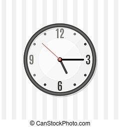ρολόι , τοίχοs , απλό