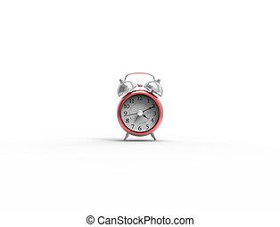 ρολόι , τρομάζω , απομονωμένος , απόδοση , στούντιο , φόντο , αγαθός αριστερός , 3d
