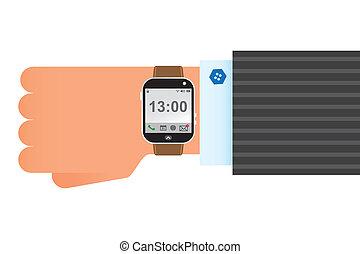 ρολόι χεριού , κομψός , ρολόι