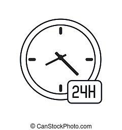 ρολόι , 24h, εικόνα