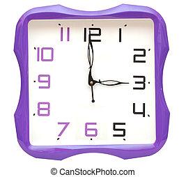 ρολόϊ τοίχου , απομονωμένος , αναμμένος αγαθός , φόντο