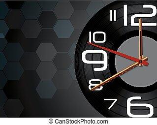 ρολόϊ τοίχου , μαύρο