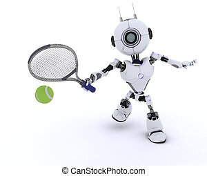 ρομπότ , αναξιόλογος tennis