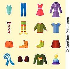 ρούχα , θέτω
