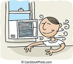 ρυθμιστής , παράθυρο , αέραs