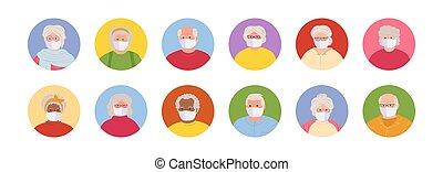 ρυθμός , άνθρωποι , γριά , avatars, μεταμφιεσμένος , θέτω , μικροβιοφορέας , γελοιογραφία