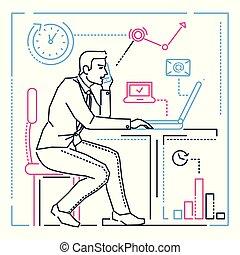 ρυθμός , - , εικόνα , ηλεκτρονικός υπολογιστής , σχεδιάζω , επιχειρηματίας , γραμμή