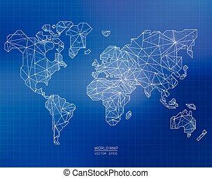 ρυθμός , εικόνα , μικροβιοφορέας , κόσμοs , polygonal, χάρτηs