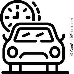ρυθμός , εικόνα , περίγραμμα , online , ταξί , αναμονή