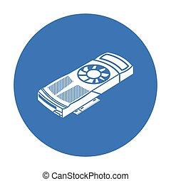 ρυθμός , ηλεκτρονικός υπολογιστής , illustration., προσωπικό , σύμβολο , απομονωμένος , φόντο. , μικροβιοφορέας , μαύρο , βίντεο , άσπρο , εικόνα , κάρτα , στοκ