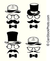 ρυθμός , θέτω , καπέλο , μουστάκι , γυαλιά