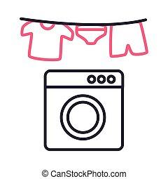 ρυθμός , μικροβιοφορέας , εικόνα , ένδυμα , απαγχόνιση , γραμμή , πλύση , σχεδιάζω , μηχανή
