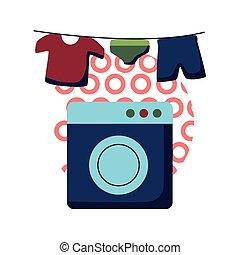 ρυθμός , μικροβιοφορέας , εικόνα , ένδυμα , απαγχόνιση , πλύση , σχεδιάζω , διαμέρισμα , μηχανή