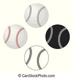 ρυθμός , μπάλα , σύμβολο , web., baseball., εικόνα , μονό , μικροβιοφορέας , μπέηζμπολ , εικόνα , γελοιογραφία , στοκ